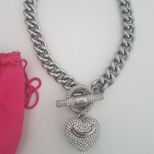 Juicy Couture Chunky Silver Necklace